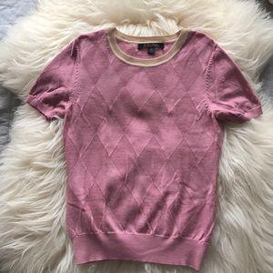 Brooks Brothers Pink Extra Fine Merino Wool Top XS